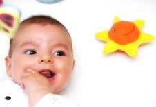 Free Closeup Portrait Of Cute Smiling Baby Boy Royalty Free Stock Photos - 20295848