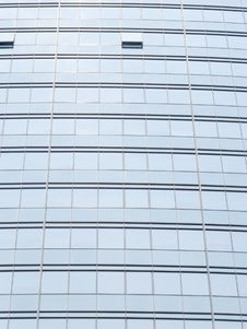 Silver Office Building Glass Wall Stock Images