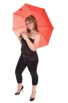 Free Umbrella Holding Teenager. Royalty Free Stock Images - 20296259