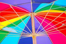 Free Underside Of A Rainbow Colored Beach Umbrella Stock Photos - 20296293
