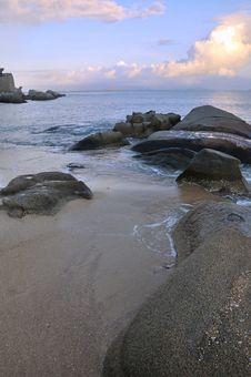 Free Sea Coast Landscape Under Sunset Stock Images - 20296604
