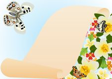 Free Papyrus, Butterflies And Flowers Stock Photo - 20297360