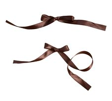 Free Brown Bows Royalty Free Stock Photography - 20297827