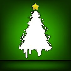 Free Christmas Tree Green Card. EPS 8 Stock Photography - 20297852