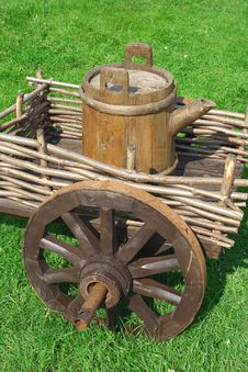 Free The Cart With The Barrel Royalty Free Stock Photography - 20297947