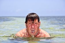 Free Portrait Of A Swimming  Man Royalty Free Stock Photography - 20298097