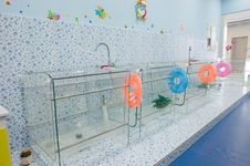 Baby Swimming Bath Stock Photography