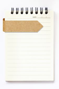 Blank Notebook With Recycle Paper Label Royalty Free Stock Photography