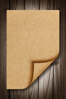 Free Blank Recycle Paper On Wood Royalty Free Stock Images - 20298469