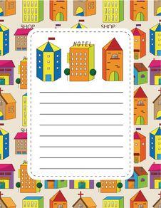 Free Cartoon House Card Stock Photo - 20298550