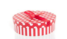 Free A Red White Dotted Gift Box Royalty Free Stock Photography - 20298577