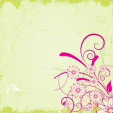 Free Grunge Floral Background Stock Photography - 20298832