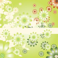 Free Abstract Flowers Background Royalty Free Stock Photography - 20298837
