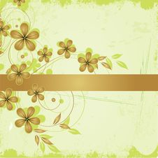 Free Grunge Floral Background Stock Photography - 20298862