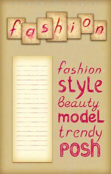 Free Pink Fashion Background Royalty Free Stock Image - 20298936