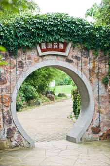 Free Gate In Chineae Landscape Royalty Free Stock Photo - 20298955