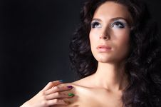 Free Professional Colourful Make-up And Manicure Stock Photography - 20299572