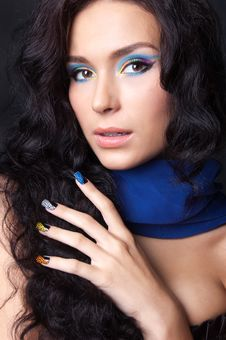 Free Professional Colourful Make-up And Manicure Royalty Free Stock Photography - 20299597