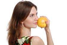 Free The Girl With An Apple Stock Photos - 20299973