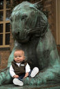 Free The Baby And The Lion Stock Image - 2039301