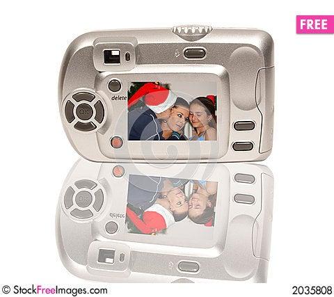 Christmas camera Stock Photo