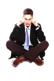 Free Businessman Sitting Stock Photo - 2030060
