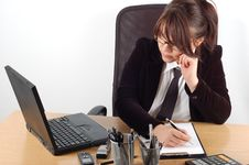 Free Businesswoman At Desk 19 Royalty Free Stock Image - 2030246