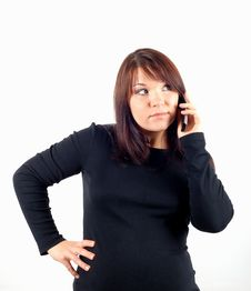 Free Phone Woman 14 Stock Photography - 2030372