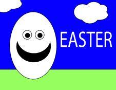 Easter Egg Man Stock Photography