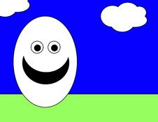 Easter Egg Man Royalty Free Stock Photography