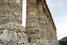 Ancient Greek Temple. Columns Royalty Free Stock Photos