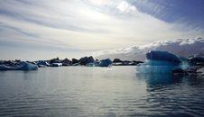 Free Icebergs At Dusk Stock Image - 2032241