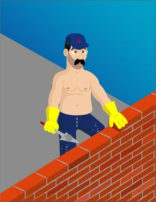 Free Contruction Worker Royalty Free Stock Image - 2032426