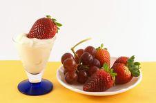 Free Fresh Strawberry Yogurt Stock Photo - 2034090