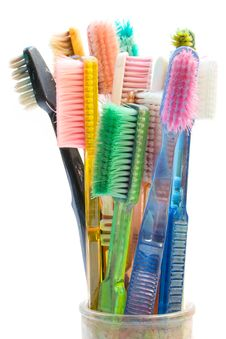 Free Colored Toothbrushes Stock Photography - 2034122