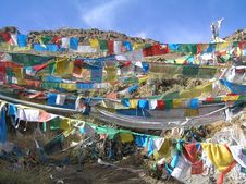 Free Wall Of Prayerflags Royalty Free Stock Images - 2034609