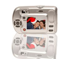 Christmas Camera Royalty Free Stock Photos