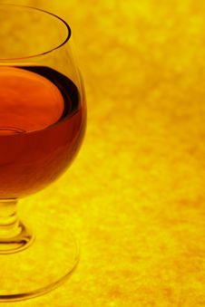 Free Half Glass With Cognac Stock Images - 2036104