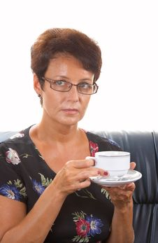 Woman And Coffee Royalty Free Stock Photography