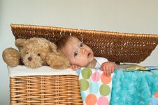 Free Baby And Teddy Stock Photos - 2037343