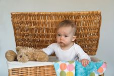 Free Baby And Teddy Royalty Free Stock Photo - 2037375
