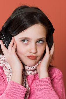 Free Girl Listening Music Stock Photo - 2038540