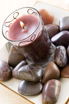 Free A New Candle Set Amongst Stone Royalty Free Stock Images - 2038689