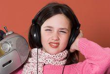 Free Girl Listening Music Stock Photo - 2038740