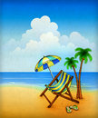 Free Drawing Of Chaise Lounge Stock Photos - 20300103