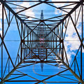 Free Electricity Tower With Blue Sky Royalty Free Stock Image - 20302606