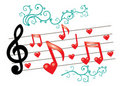 Free Music Notes With Ornament Royalty Free Stock Photography - 20302657