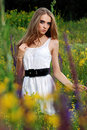 Free Young Girl At The Meadow Stock Image - 20302821