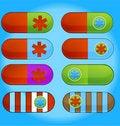 Free Vitamin Medic Colored Pills Sign Set Stock Photo - 20306050