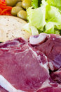 Free Raw Beef Fillet With Vegetables Stock Images - 20306704